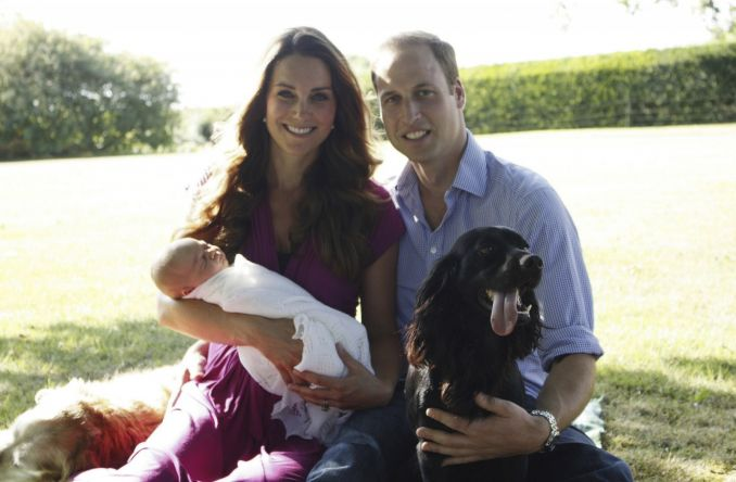 Kate Middleton, princas Williamas ir princas George